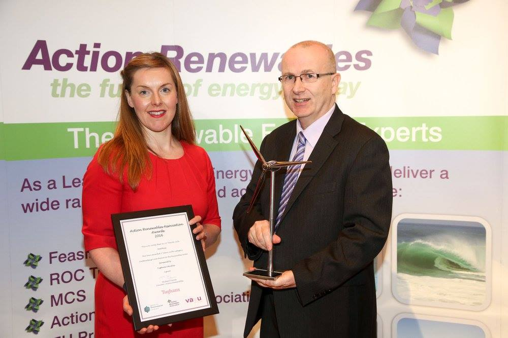 Green energy accolade for Housing Executive manager